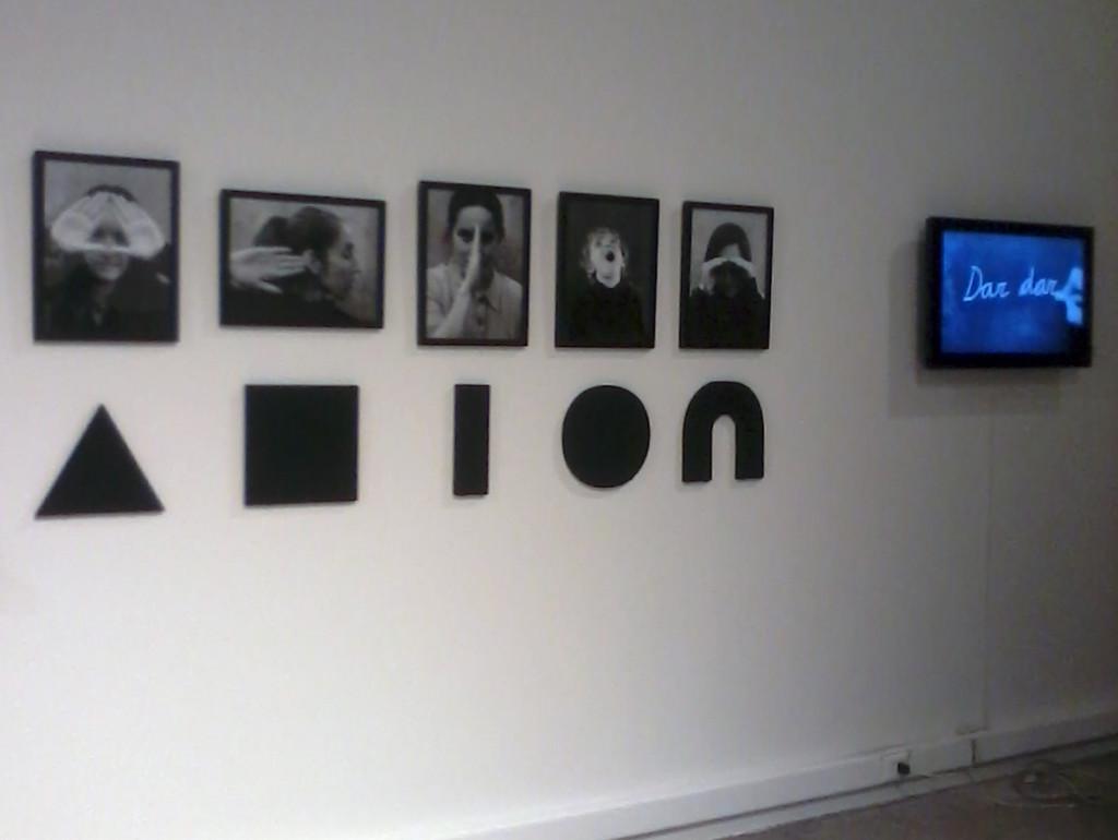 Las Vocales, vista de la exhibición