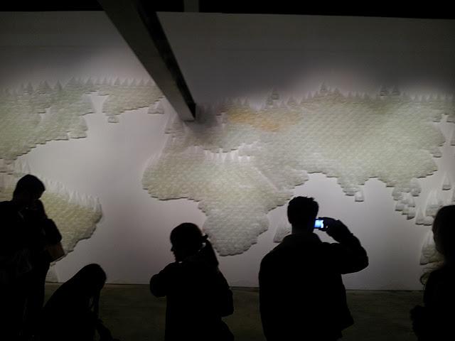 Vista de Mapa exhibido en la VI Bienal de arte Contemporáneo de Moscú, Rusia. 2010