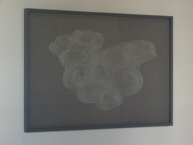 """Parábola"", dibujo. Punta seca sobre papel vegetal"