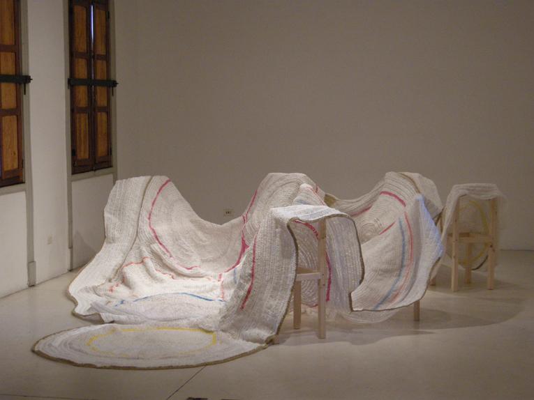Vista de la obra expuesta en Galería Die ecke, Santiago, Chile