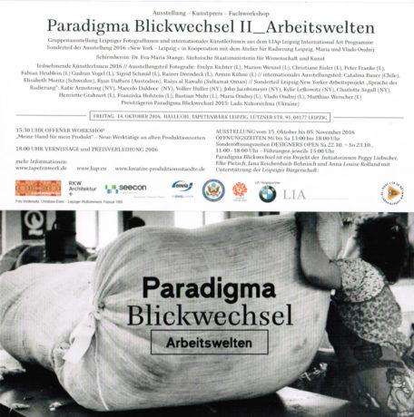 Exposición paradigma-blickwechse, Plagwitz, Leipzig / Exhibition paradigma-blickwechse Plagwitz, Leipzig.